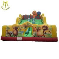 China Hansel high quality challenge games inflatable slide for kids in amusement park on sale