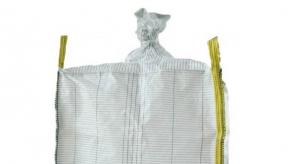 Quality Side Discharge Design Anti Static Bulk Bags Flat Bottom With Spout 500kg / 600kg for sale