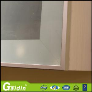 China anodized wooodgrain glass insert electrophoresis kitchen cabinet aluminum door frame on sale