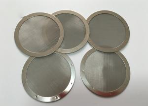 China Plain / Twill Weave Round Fine Mesh Filter , Mesh Water Filters Stainless Steel on sale