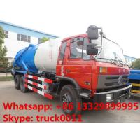 Dongfeng 6*4 LHD/RHD Cummins 210hp diesel 16m3 vacuum sewage suction truck for sale, dongfeng brand sludge tank truck