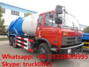 China Dongfeng 6*4 LHD/RHD Cummins 210hp diesel 16m3 vacuum sewage suction truck for sale, dongfeng brand sludge tank truck on sale