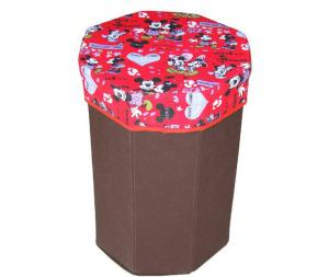 China Customized cute cartoon pattern red storage box bag for colleting toys on sale