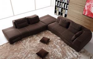 Quality Sofa italien de concepteur, sofas modernes de luxe de tissu, conception de meubles italiens de B/B for sale