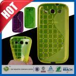 Cajas verdes del teléfono celular del diamante artificial, cubiertas de la galaxia S3 I9300 de Samsung