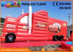 Fun Truck Bounce House Inflatables Obstacle Course Red Fire Retardant