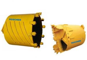 China Yellow Color Rock Drilling Core Barrel Rotary Auger 800-1200mm Shell Length on sale