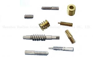 China Mechanical Parts Steel Brass Worm Gear , Bronze Worm Wheel Various Sizes on sale