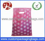 Colorful Die Cut Handle Plastic Bags Custom Plastic Shopping Bags
