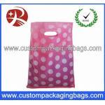 Colorful Die Cut Handle Plastic Bags Custom Plastic Shopping Bags