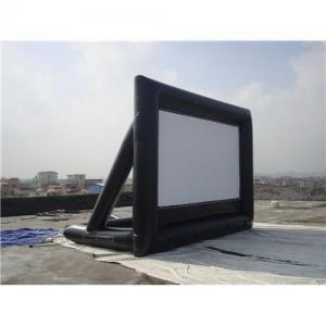China Outdoor Oxford Cloth Material Inflatable Projector Screen 4*3m For Home Party / Education and Enterprise Advertisement on sale