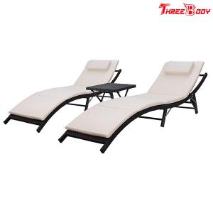 China Recliner Outdoor Patio Lounge Chairs Adjustable Back Folding and Portable Design on sale