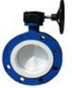 China Lined Butterfly Valve -- Double Flange Split Body Concentric B.V on sale