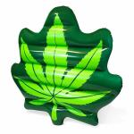 Giant Durable Green PVC Inflatable Pool Lounge Floats Weed Leaf ICTI Testing