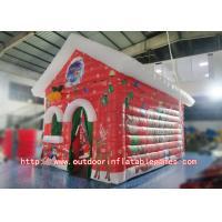 Christmas Decoration Inflatable Xmas house / Santa Claus Christmas Lighted Houses