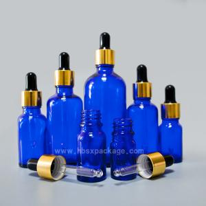 China China supplier 15ml Cobalt Blue Aromatherapy Essential Oil Glass Container Bottle With Dropper on sale