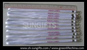 China Polyester white working lanyard, custom printed lanyards on sale
