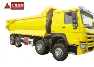 China Mining Stone Sand Dump Heavy Duty Tipper Trucks SINOTRUK HOWO A7 420hp 12 Wheels on sale