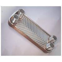 High Transfer Efficiency Brazed Plate Heat Exchanger Stainless Steel AISI 316 Connections
