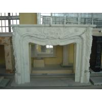 Contemporary Natural Stone Fireplaces / White Marble Fireplace Customized Shape