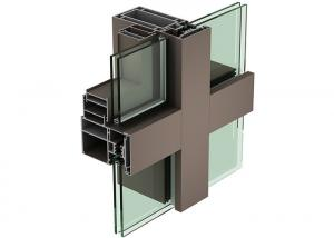 China Curtain Wall Aluminium Profiles Powder Coating Aluminum Extrusion Framing on sale
