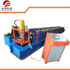 China Storage Rack Roll Forming Machine , Supermarket Goods Shelf Upright Roll Forming Machine on sale