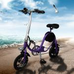 Aluminum 6061 Material Fold Up Electric Bike , Foldable Electric Scooter YT S1