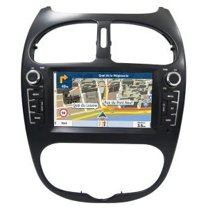 China Peugeot 206 GPS Navigation Car Multimedia DVD Player With Android / Windows System on sale