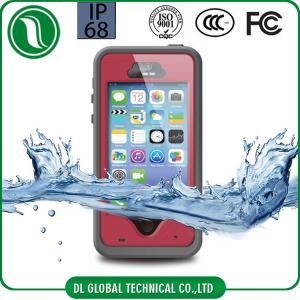 China Red iPhone 5S Waterproof Case Fingerprint Unlock Redpepper Dot Series on sale