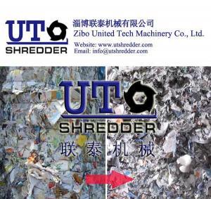 China single shaft shredder in coated paper, ads paper, art paper shredding / paper shredder/ paper crusher / waste paper on sale