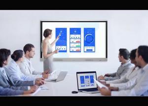 China Fullscreen View Touch Screen Interactive Whiteboard Led Black Aluminium Frame on sale