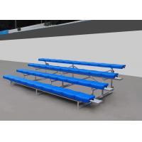 Fixed Aluminum Stadium Bench Seating Bleachers Grandstands With Little Maintenance