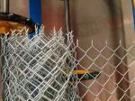 Electro Galvanized Chain Link Diamond Wire Mesh Yard Fence , Gi Chain Link Fence