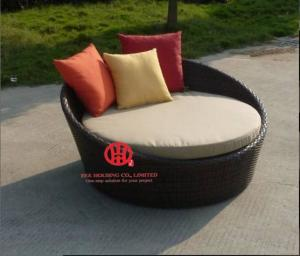 China Antique French Style Garden Furniture Rattan Outdoor Day bed on sale