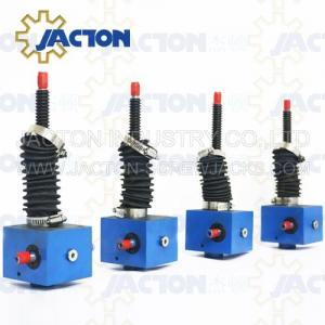 China worm electric transmission gearbox jack with jwss worm gear linear actuator adjustable swl spiral elevator reducer on sale