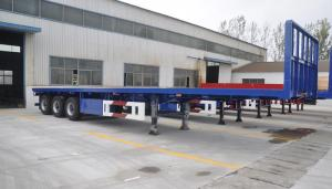China 3 Axles 50 Tons ABS Braking System Low Flat Bed Semi Trailer For Machine Transport on sale