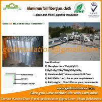 Aluminum foil coating fiberglass cloth for heat pipe insulate