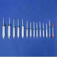 Diposable 3-part syringe with needle,luer slip,luer luck