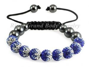 China Crystal Shamballa 10MM Bracelet on sale