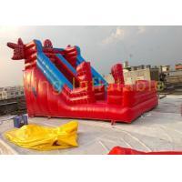Red / Blue Spider Man Inflatable Dry Slide Outdoor Giant Waterproof / Anti - UV Slide