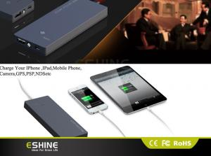 China Ultra Slim 3500mah Mini Solar Power Bank Charger , Solar Power Battery Charger on sale