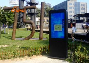 China Dustproof High Definition Outdoor Digital Kiosk , Touch Screen Interactive Display supplier