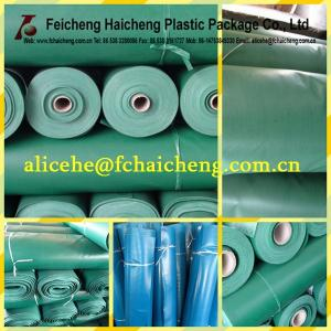 China pvc coated polyester fabric tarpaulin rolls on sale