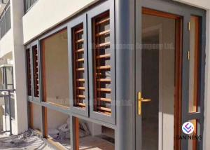 China Stable Casement Aluminium Glass Windows With Aluminum Burglar Mesh , Grid Net For Option on sale