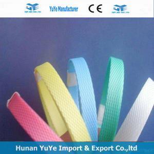 China Correas grabadas en relieve amarillo de straps/PP/correas plásticas on sale