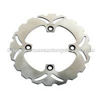 Rear Right Racing Motorcycle Brake Disc 220mm Outside Diameter Silver Color