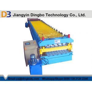 China Petit pain ondulé en acier de feuille de PPGI formant la machine, couvrant la feuille faisant la machine on sale
