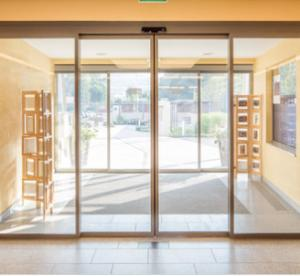 China Capacity 120KG Beam 150mm Commercial Automatic Sliding Doors with secure locking device on sale