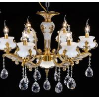 China Indoor Alloy Dining Room Chandeliers Modern Crystal Ceiling Lights on sale