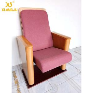 China Customized Metal Floor Mounted Polywood Stand Theater Chairs For Church Halls on sale